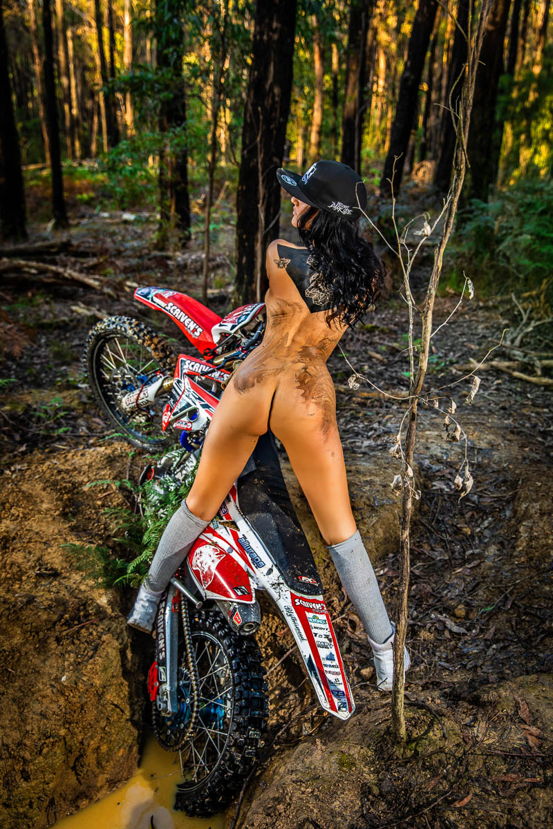 boudoir photography melbourne trail bike shoot