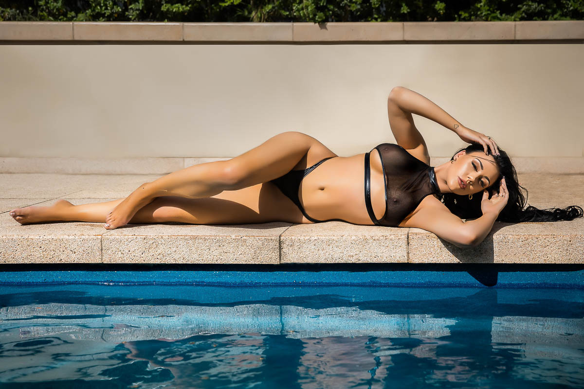 boudoir photography melbourne studio pool shoot