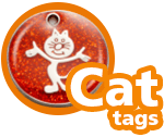 Custom Cat ID Tags, Custom Cat Tags, Custom Pet Tag for Cats