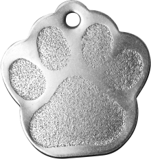 Stainless Paw Pet Tag