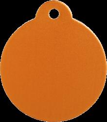 Aluminum Orange Disc Pet Tag