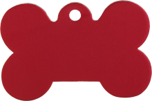 Aluminum Red Bone Pet Tag
