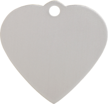 Aluminum Silver Heart Pet Tag