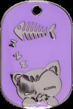 Purple Sleeping Cat Pet Tag