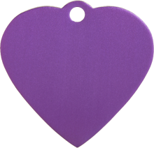 Aluminum Purple Heart Pet Tag