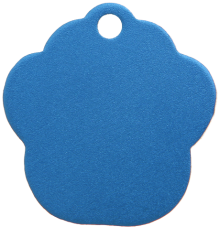 Aluminum Blue Paw Pet Tag