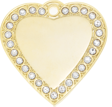 Amore Bling Heart Pet Tag