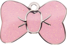 Pink Sparkle Small Bow Tie Pet Tag