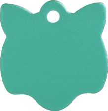 Aluminum Green Cat Pet Tag