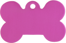 Aluminium Pink Bone Pet Tag