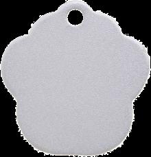 Aluminium Silver Paw Pet Tag