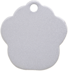Aluminum Silver Paw Pet Tag