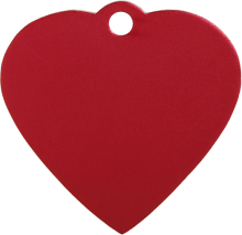 Aluminium Red Heart Pet Tag