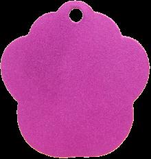 Aluminum Pink Paw Pet Tag