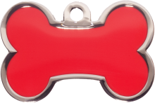 Red Small Bone Pet Tag