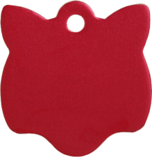 Aluminum Red Cat Pet Tag