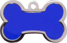 Blue Large Bone Pet Tag