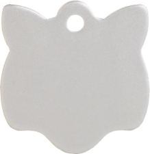 Aluminium Silver Cat Pet Tag