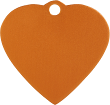 Aluminum Orange Heart Pet Tag
