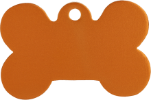 Aluminium Orange Bone Pet Tag