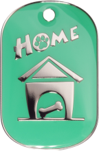 Green Large Home Pet Tag