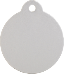 Aluminium Silver Disc Pet Tag