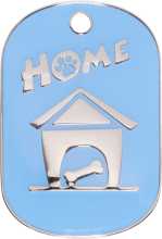 Blue Small Home Pet Tag