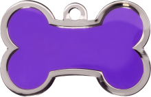 Purple Large Bone Pet Tag