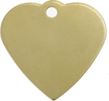 Brass Heart Pet Tag