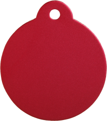 Aluminum Red Disc Pet Tag