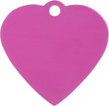 Aluminium Pink Heart Pet Tag