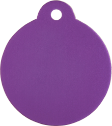 Aluminum Purple Disc Pet Tag
