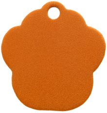 Aluminum Orange Paw Pet Tag