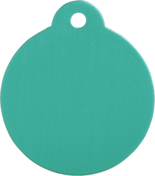 Aluminium Green Disc Pet Tag