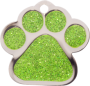 Green Sparkle Small Paw Pet Tag