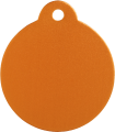 Aluminium Orange Disc Pet Tag