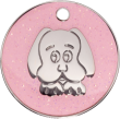 Pink Glitter Dog Pet Tag