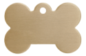 Brass Bone Pet Tag