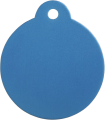Aluminum Blue Disc Pet Tag