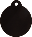 Aluminium Black Disc Pet Tag