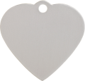 Aluminium Silver Heart Pet Tag