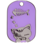 Purple Sleeping Cat Pet Tag