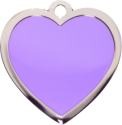 Purple Large Heart Pet Tag