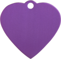 Aluminium Purple Heart Pet Tag
