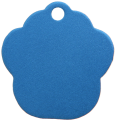 Aluminium Blue Paw Pet Tag