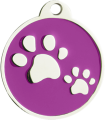 Smart Tag Purple with QR Code and NFC Chip