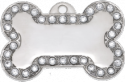 Foxy Large Bling Bone Pet Tag