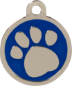 Pawprint Blue Pet Tag