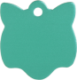Aluminium Green Cat Pet Tag