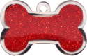 Red Sparkle Large Bone Pet Tag
